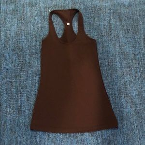 Lululemon CBR tank - never worn, chocolate brown